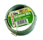General Purpose Galvanised Garden Wire - 50m
