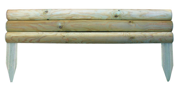 21cm Horizontal Log Edging