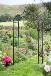 Attirant Black Metal Garden Arch